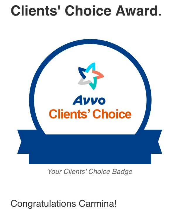 Carmina Tessitore Receives Avvo Clients' Choice Award