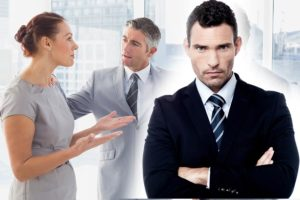 Businesswoman arguing with co-worker in office